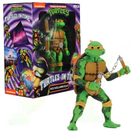 "NECA TMNT Turtles in Time 7"" Action Figure - Michelangelo"